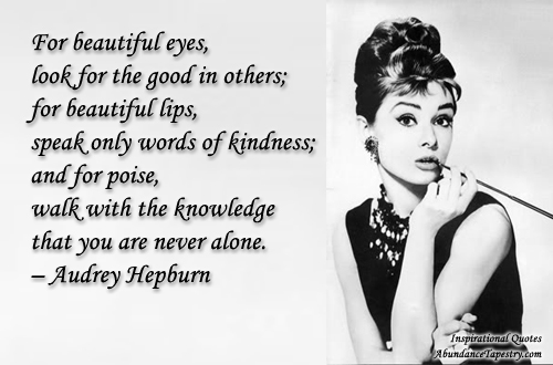 Audrey Hepburn Quotes On Aging