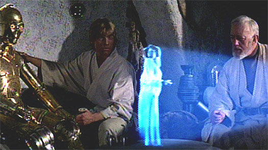 hologram in star wars