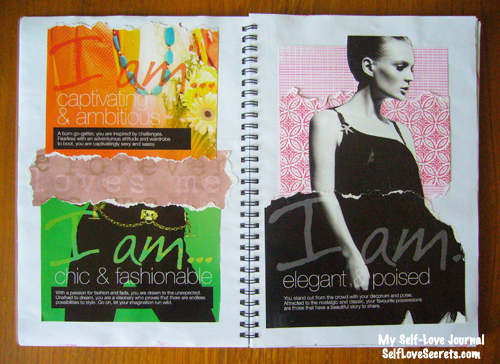 self confidence love art journal
