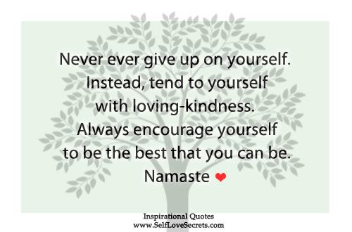 self love encouragement