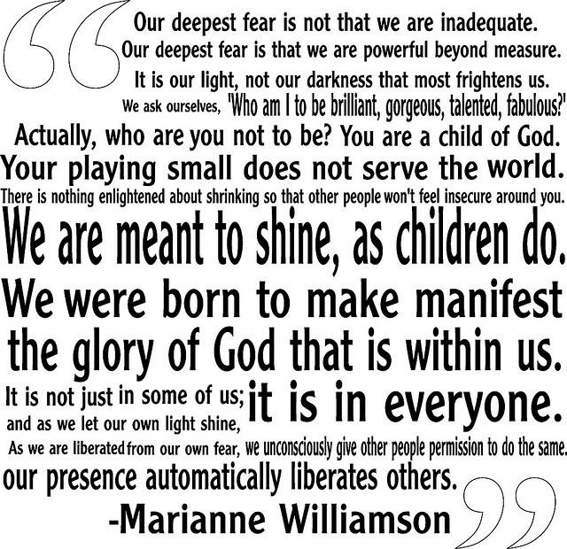 marianne wiliamson quote