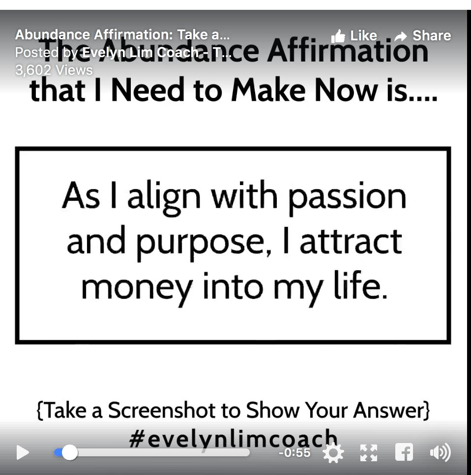 my abundance affirmation for today