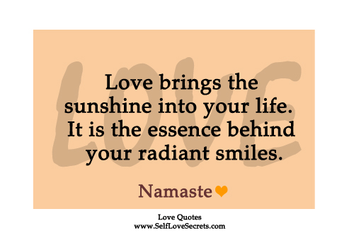 love quote for inspiration sunshine