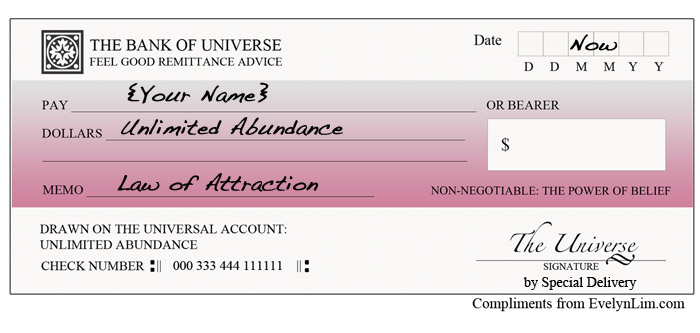 Law of Attraction Abundance Check