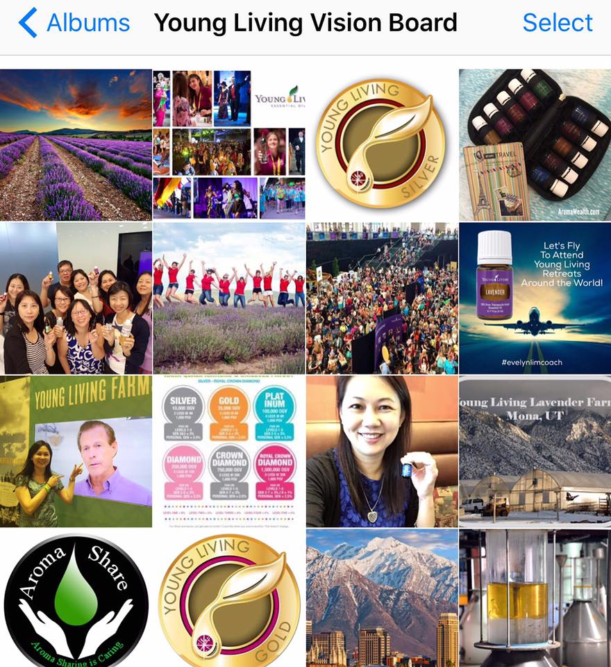 Young Living Photo Vision Board