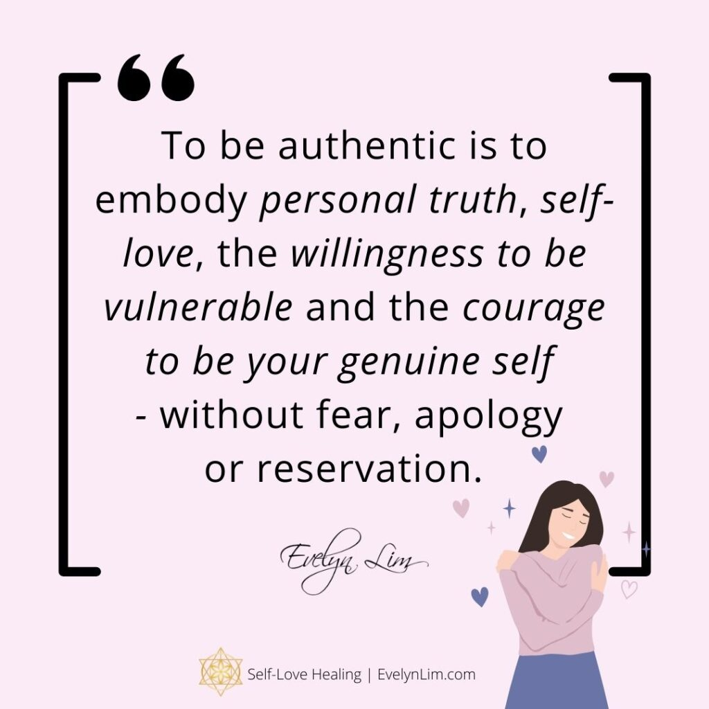 What aligning with authentic self means