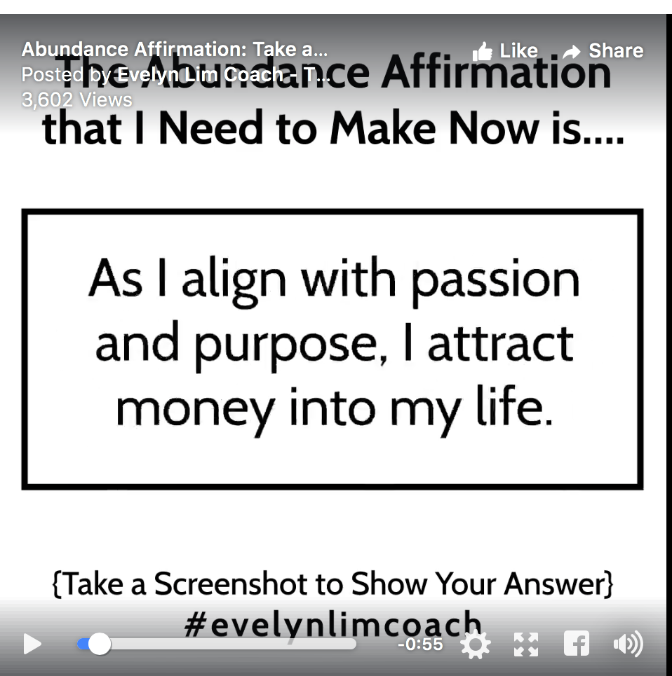 my abundance affirmation for today