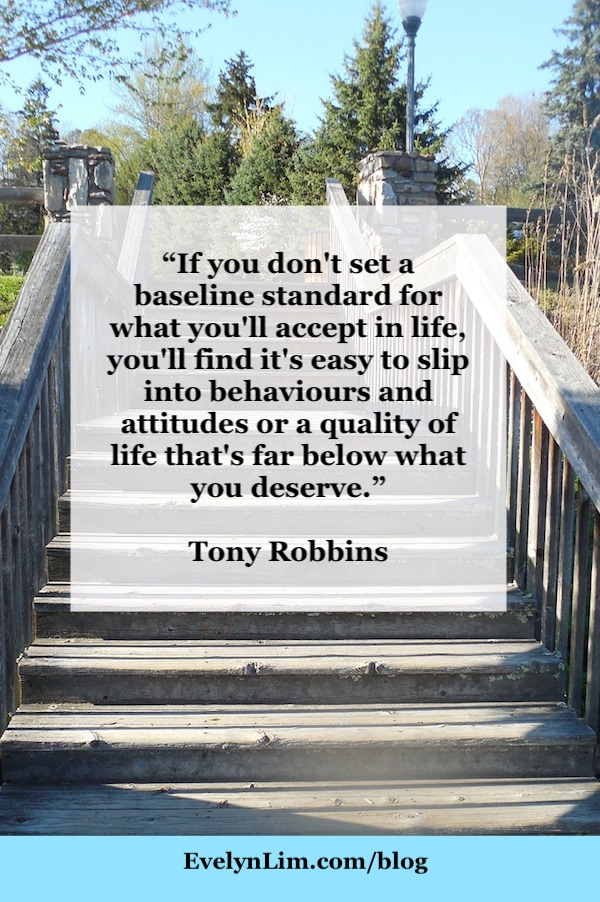Raise your standards Tony Robbins