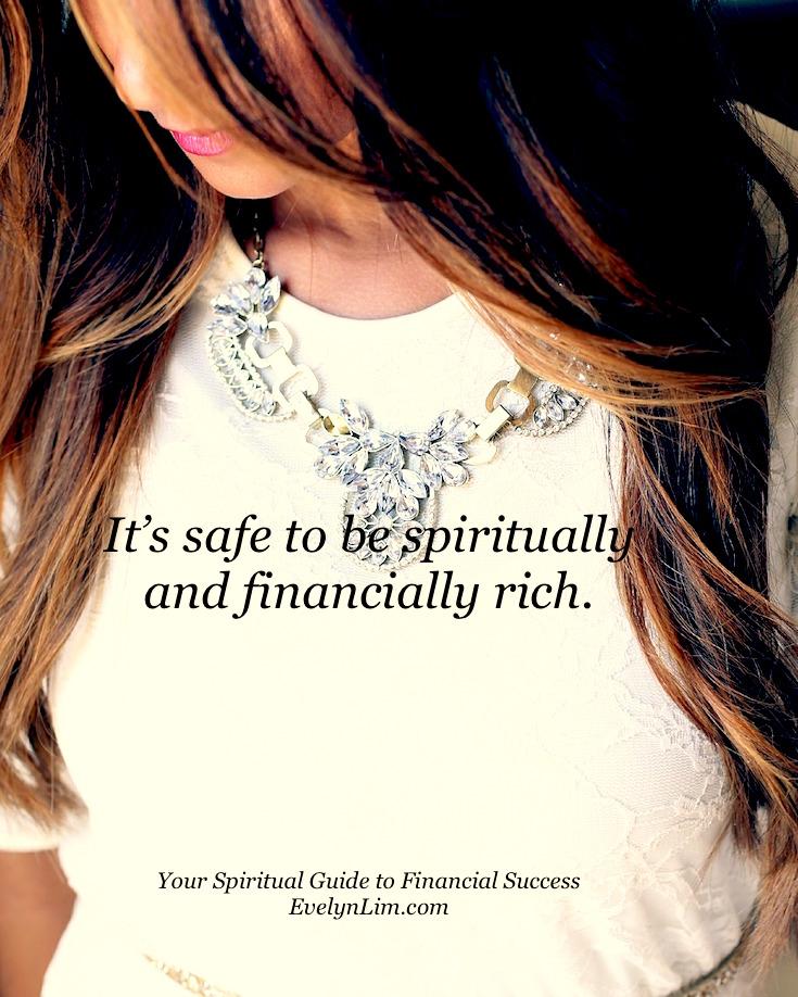 spiritual and financial rich