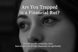 trapped in financial rut